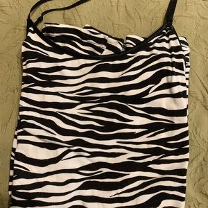 Zebra striped camisole w adjustable straps